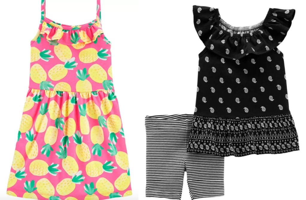 girls carter's dress and set