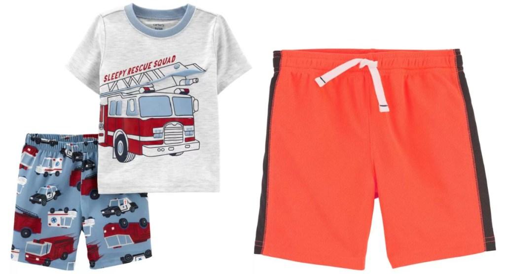 carter's pajamas and shorts