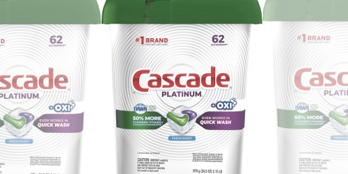 $15 Off $50 Household Purchase on Amazon | Stock Up on Cascade, Glad, & More
