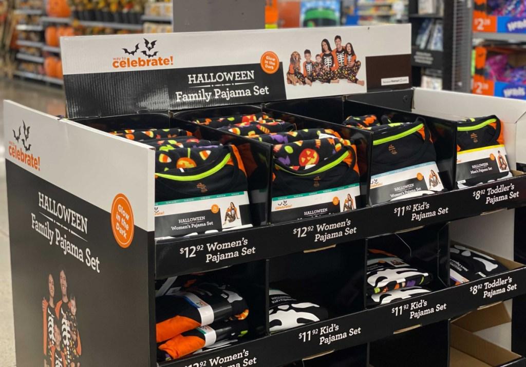 in-store display of Halloween Pajamas