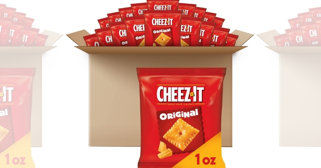 Cheez-It Original Baked Snack Cheese Crackers 1oz Bags 40-Count