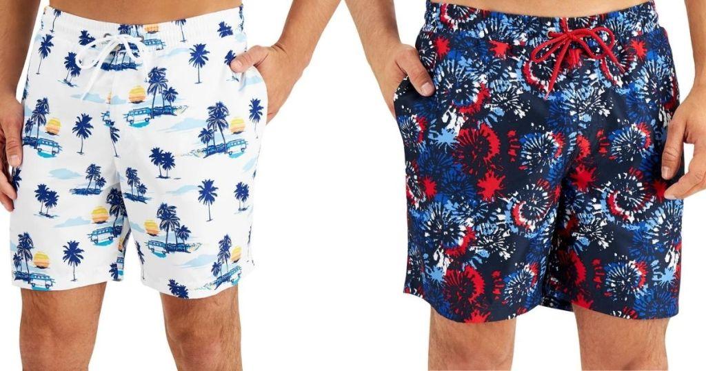 two men wearing swim shorts