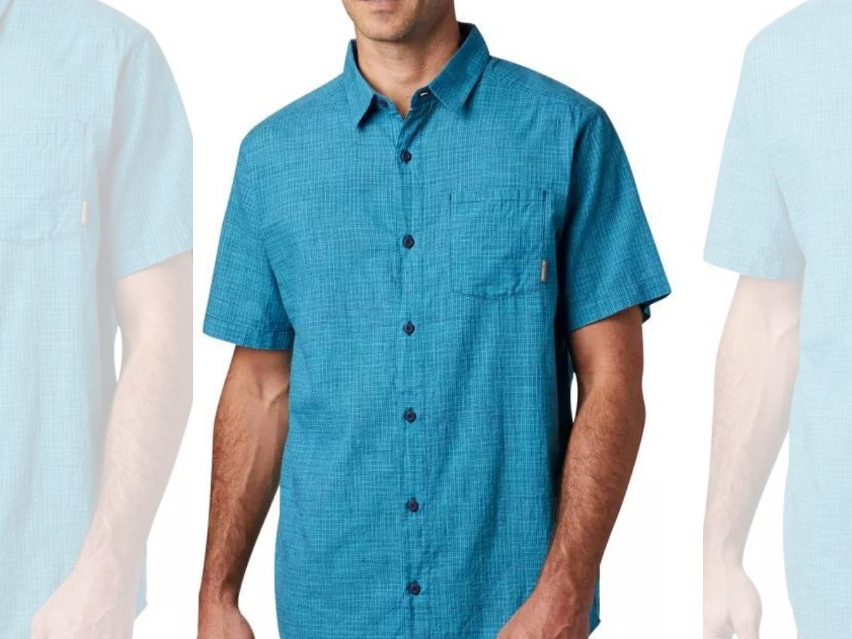 Columbia Men's Under Exposure Yarn-Dye Short-Sleeve Shirt