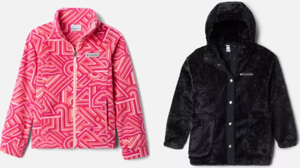 girls columbia fleece jackets
