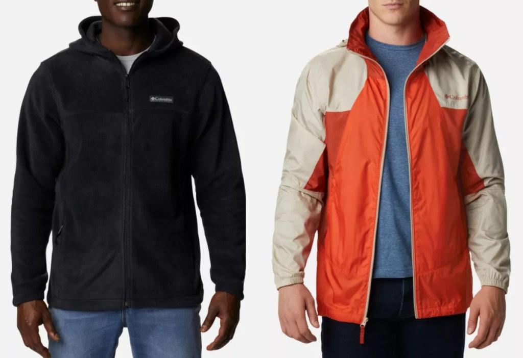 2 men's columbia jackets