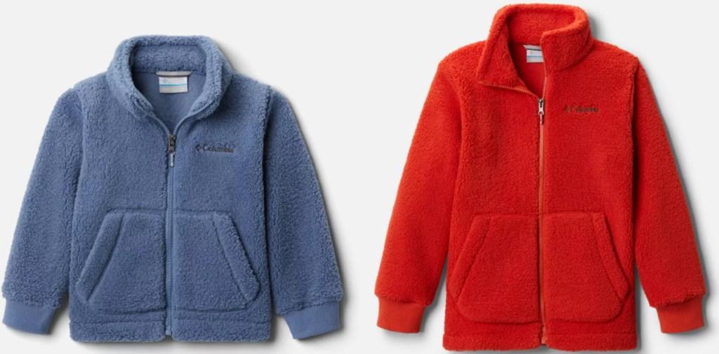 2 kids sherpa fleece columbia jackets