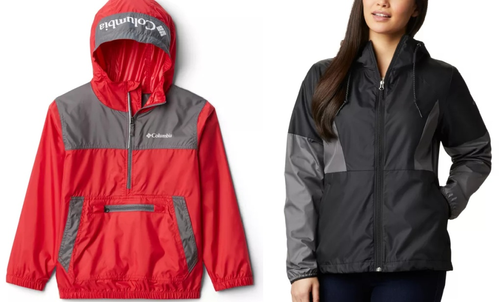 Columbia kid and women's jackets