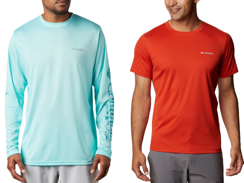 Columbia short and long sleeve