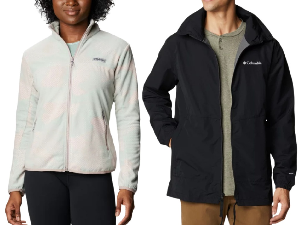 Columbia women's and men's jackets
