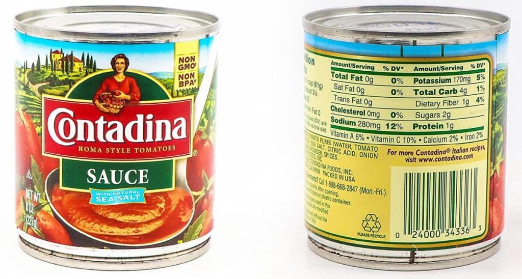 can of Contadina sauce