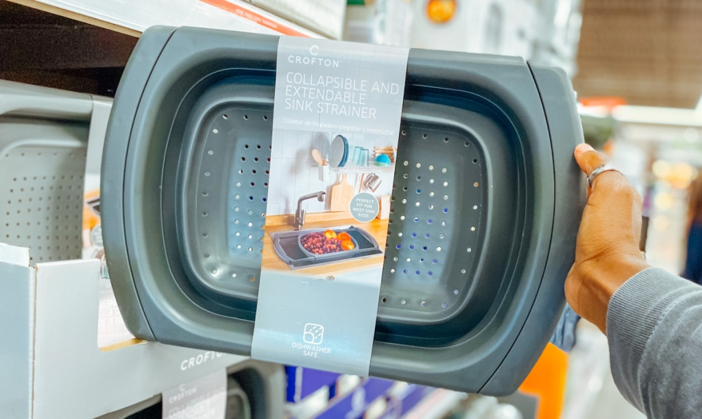 Crofton Extendable Sink Colander on display in-store