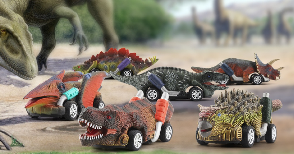 Dinosaur Toy Pull Back Cars