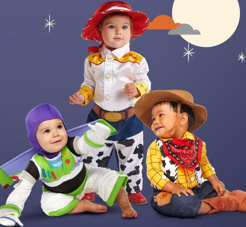 babies in Halloween costumes