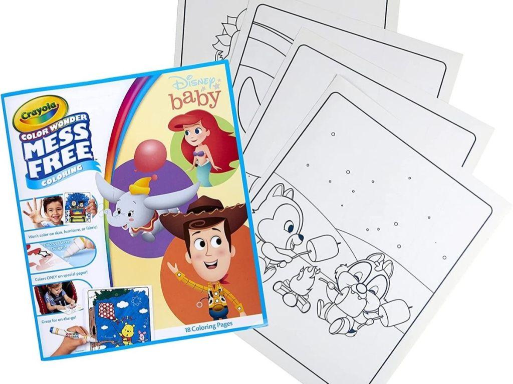 disney baby characters mess free coloring book crayola