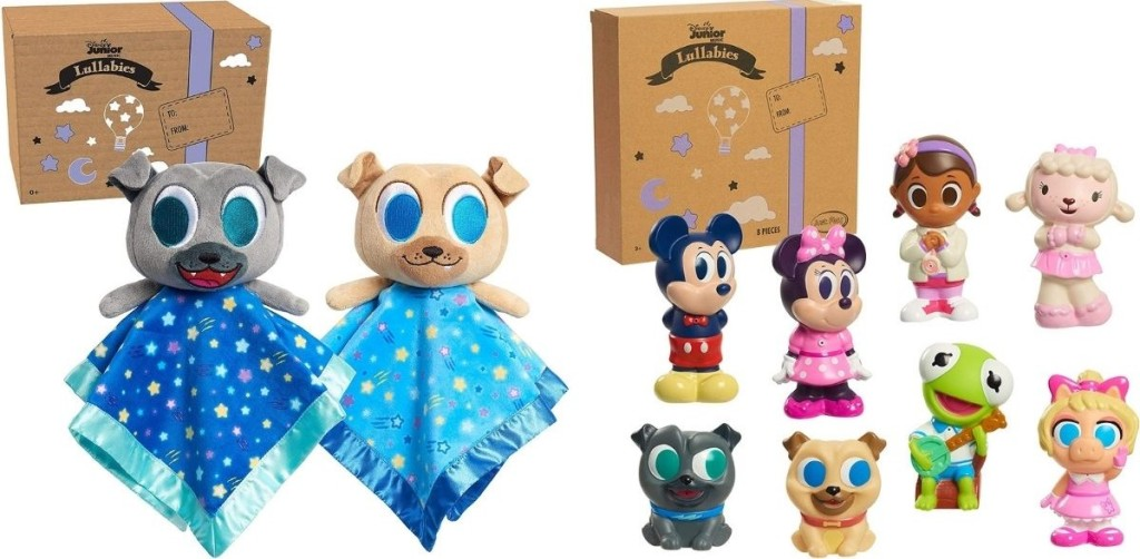 two sets of Disney toys