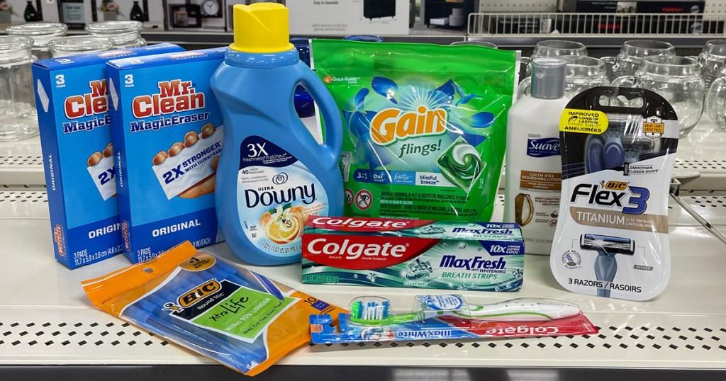 Dollar General Products on shelf