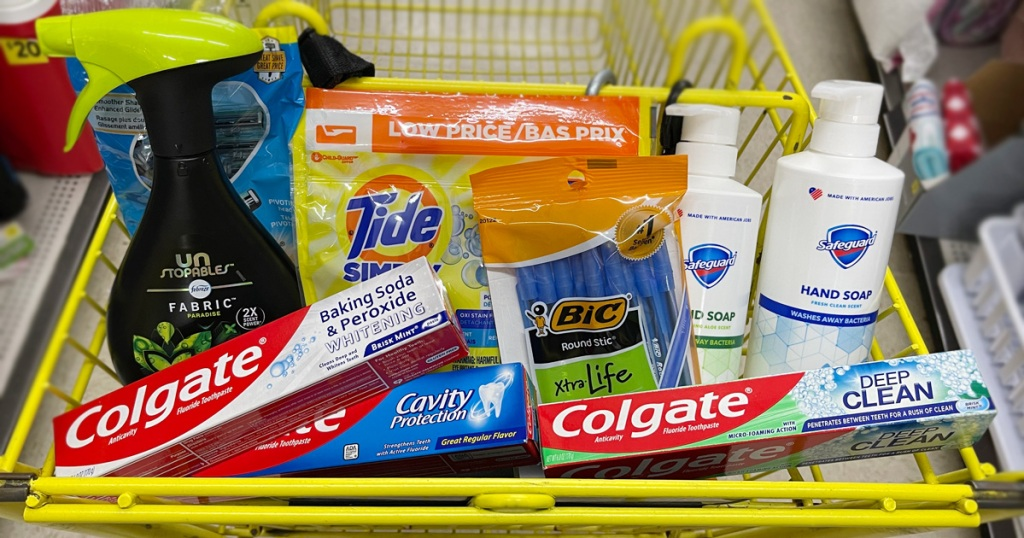 Dollar General products in cart