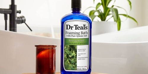 Dr Teal's Foaming Bath 34oz Bottle Only $3.67 Shipped on Amazon (Regularly $6)