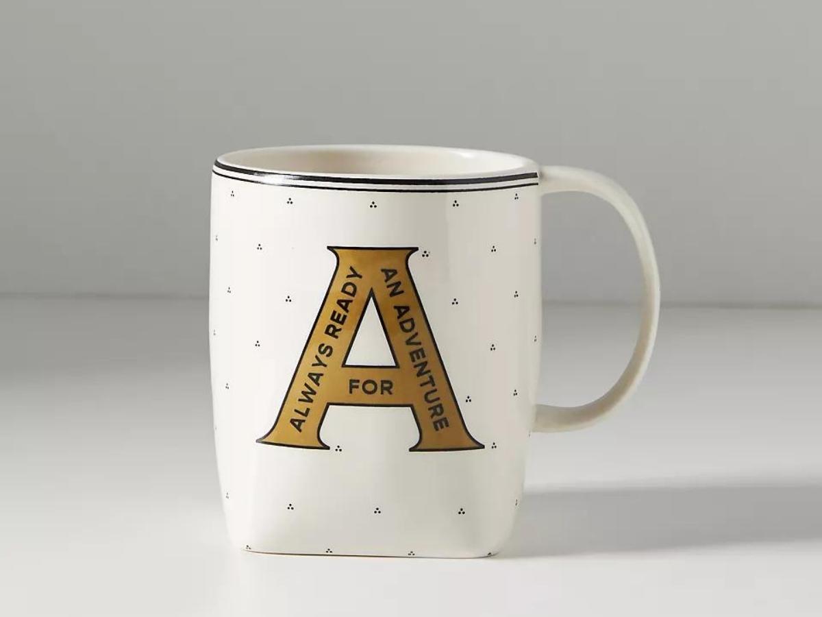 """""""a"""" monogram mug anthropologie"""