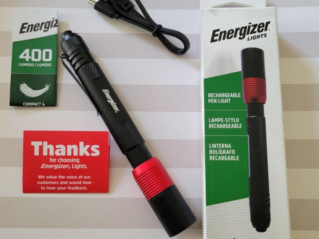 energizer rechargeable pen light set