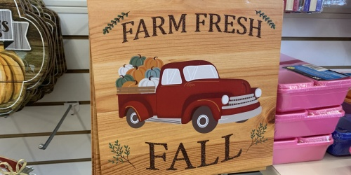 Fall & Harvest Decor Only $1 at Dollar Tree   Monogrammed Pumpkins, Wooden Signs, & More