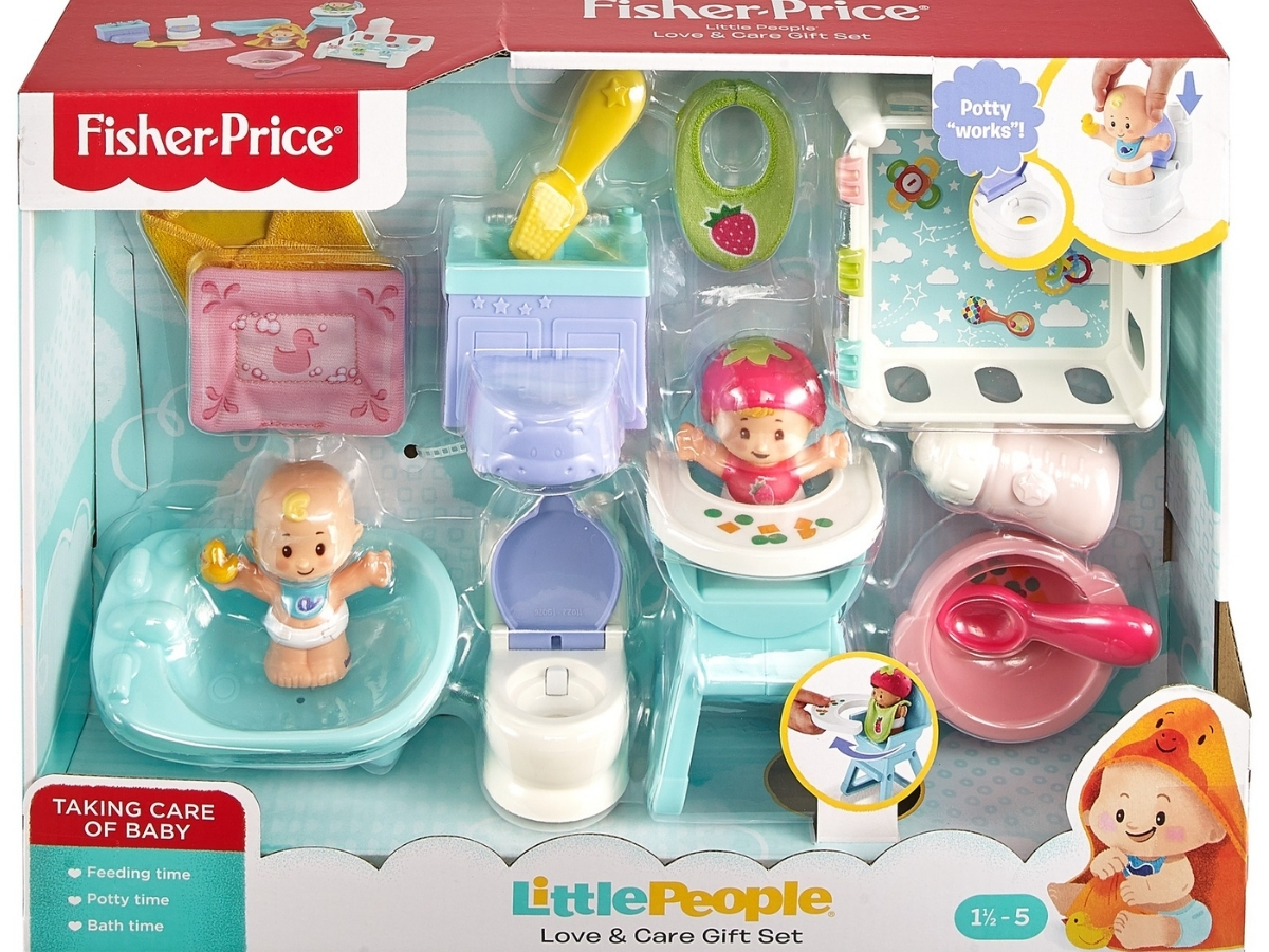 Fisher-Price Little People Babies Love & Care Gift Set