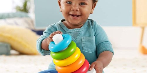 Fisher-Price Rock-a-Stack Toy Only $3.25 on Walmart.com (Regularly $7)   Made from Plant-Based Materials