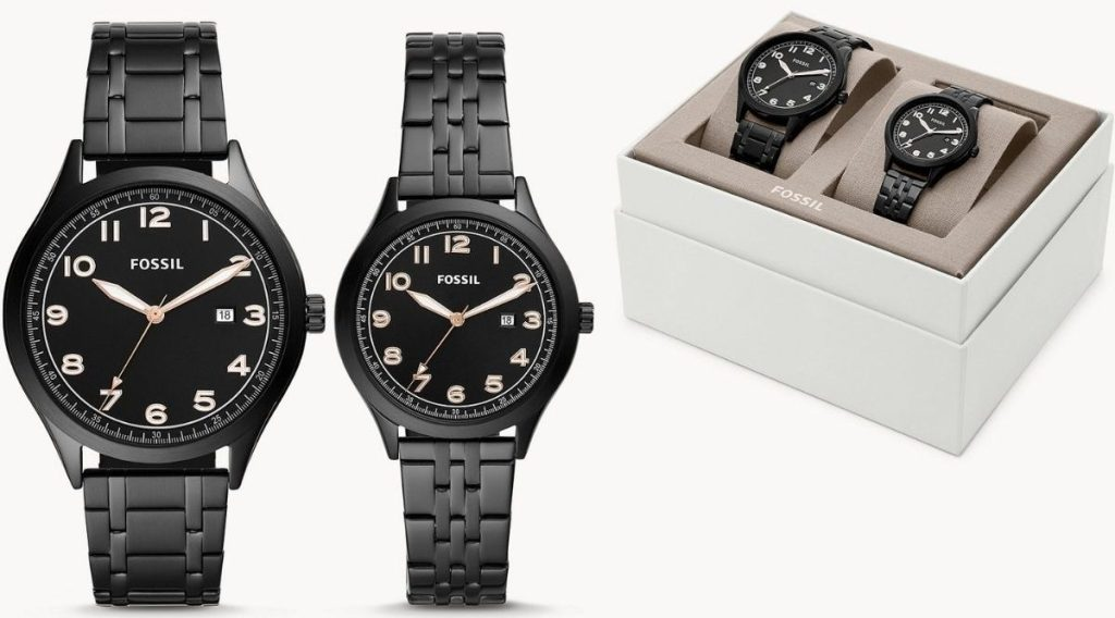Fossil his and hers watch set