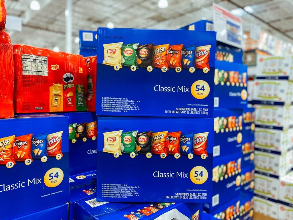 Frito Lay Boxes at Costco