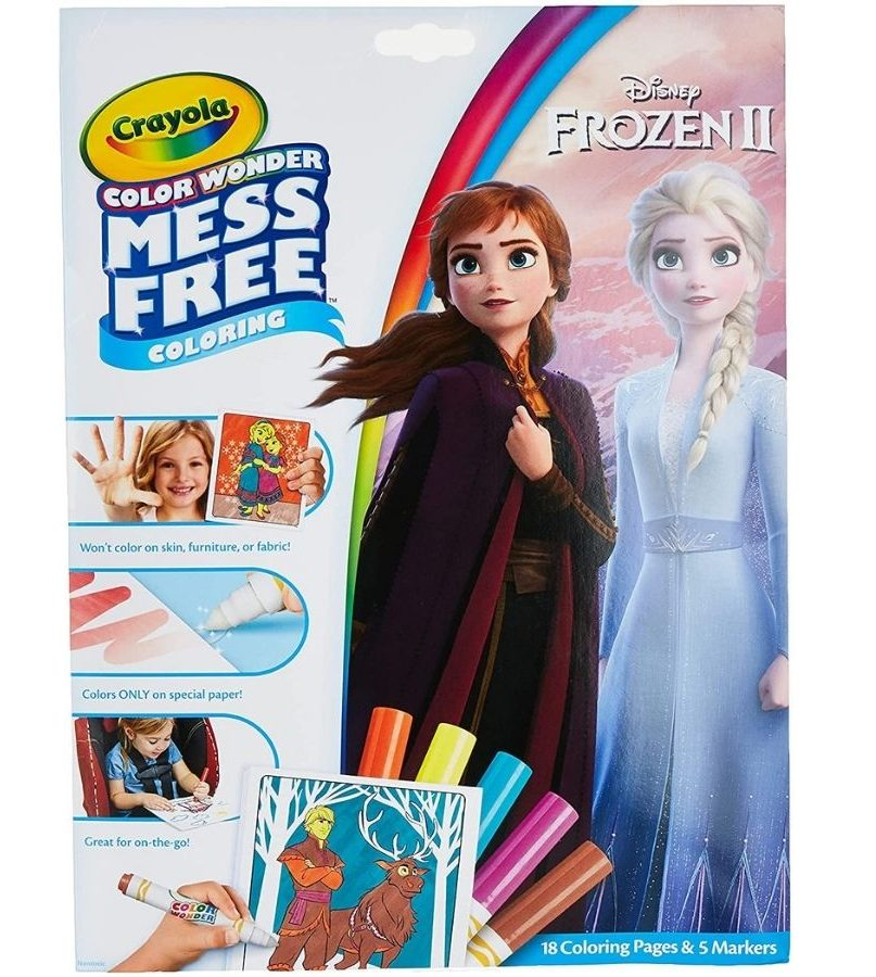 frozen coloring book mess free from crayola