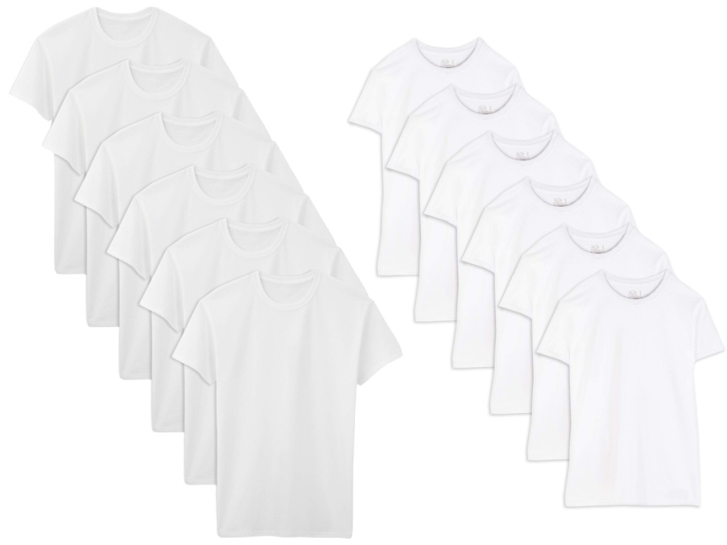 twelve white crew t-shirts