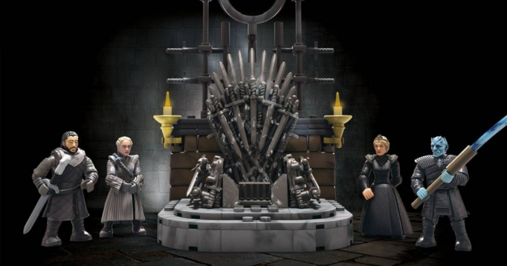mega construx iron throne from game of thrones set