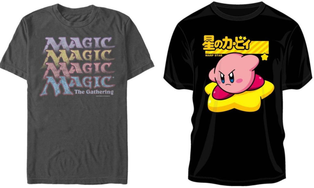 magic and kirby graphic tees