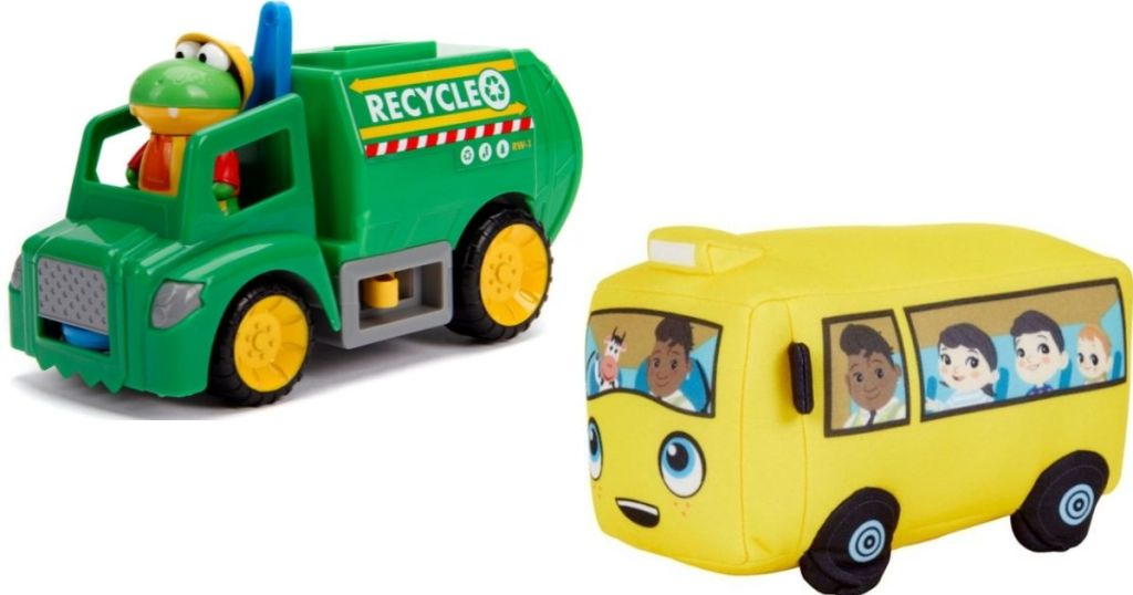 Garbage Truck and School Bus toys