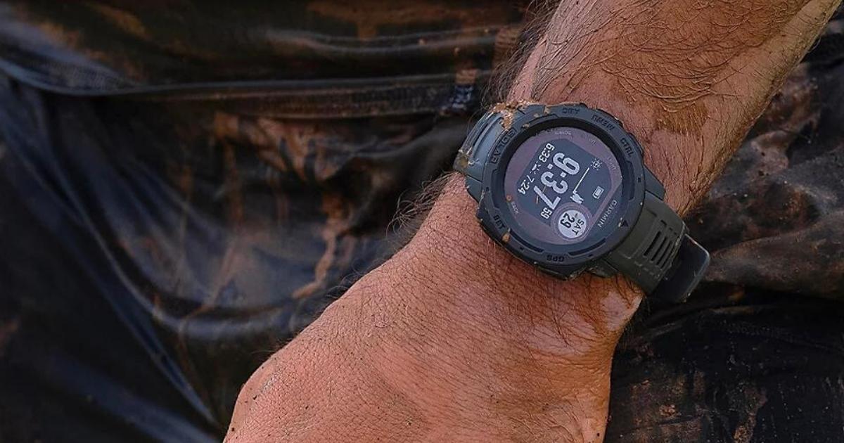Garmin Instinct Solar GPS and Fitness Smartwatch