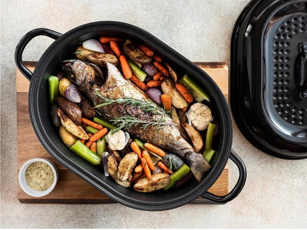 granite stone roast pan