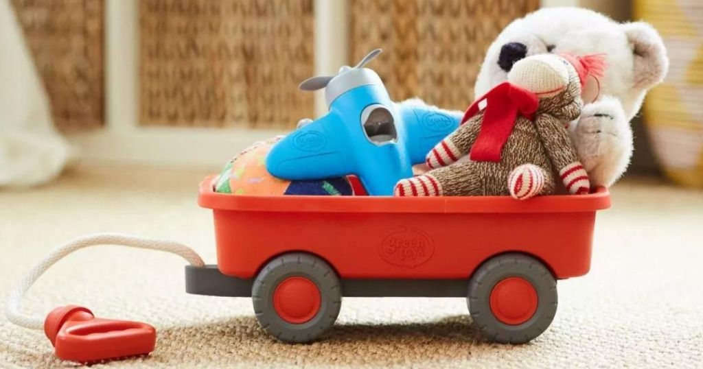 wagon with toys in it