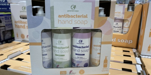 Antibacterial Hand Soap 4-Pack Only $2.99 at Costco | Just 75¢ Per Bottle