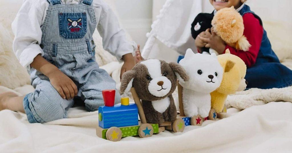 gund stuffed puppies with kids