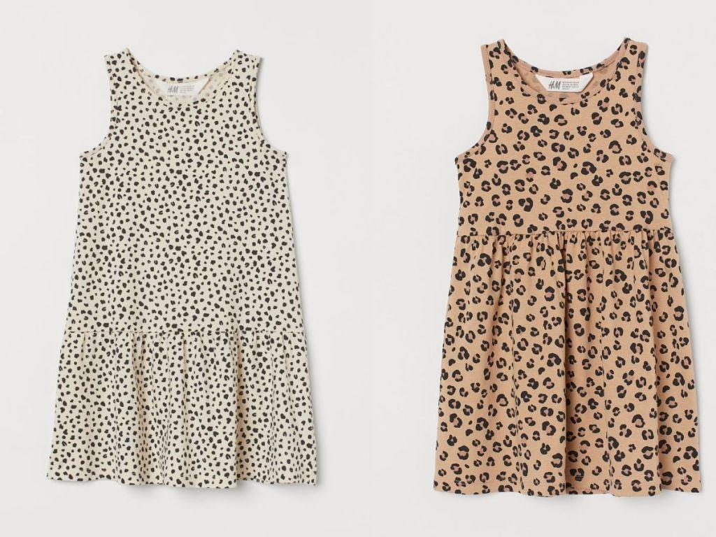 2 girls leopard dresses