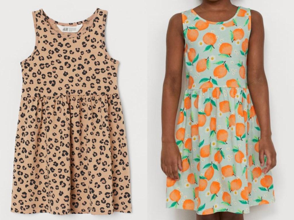 2 h&m girls dresses