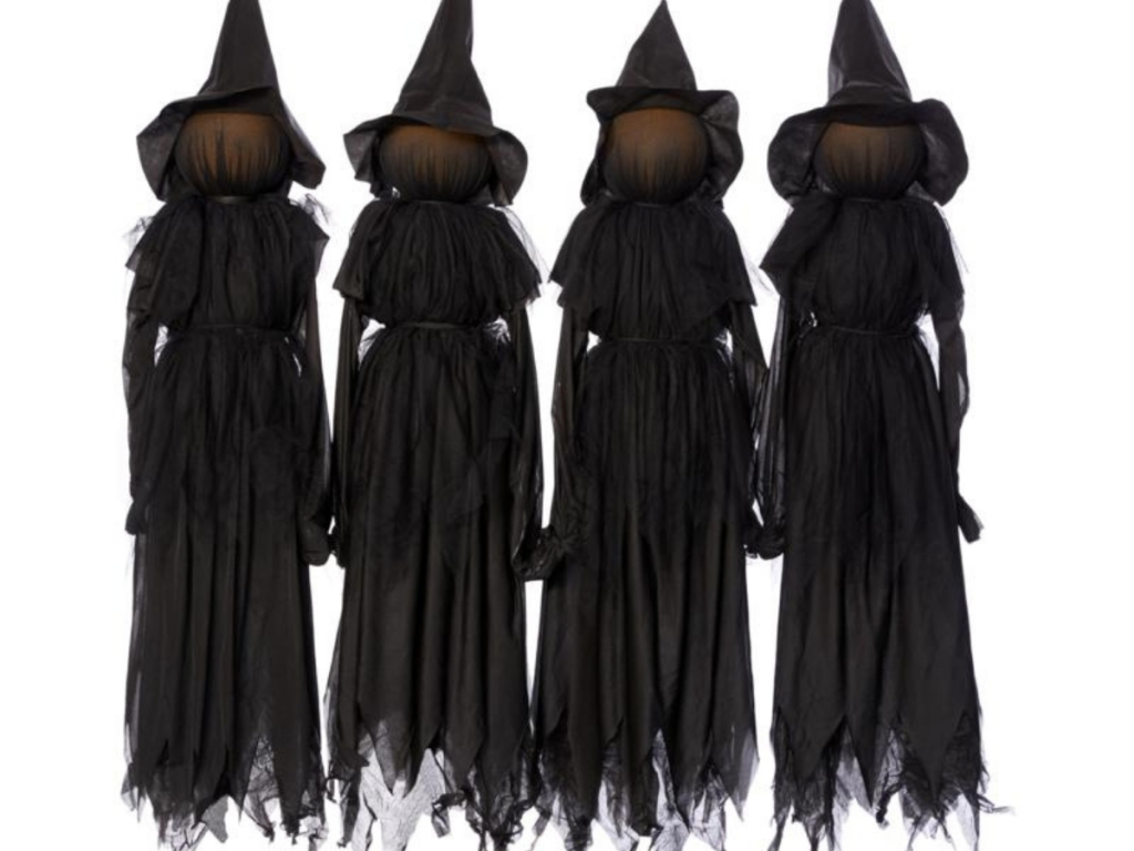 hsn halloween faceless witch stakes