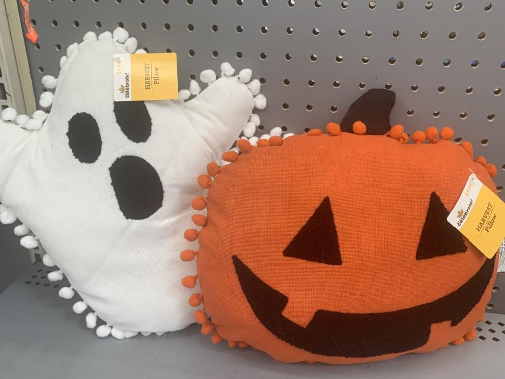 ghost and pumpkin pillow at walmart