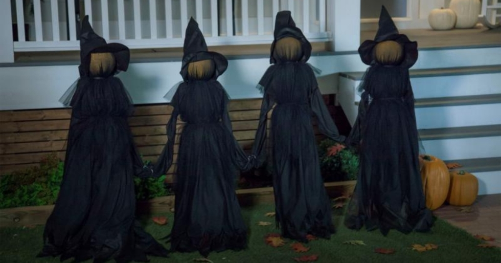hsn halloween witches in front yard