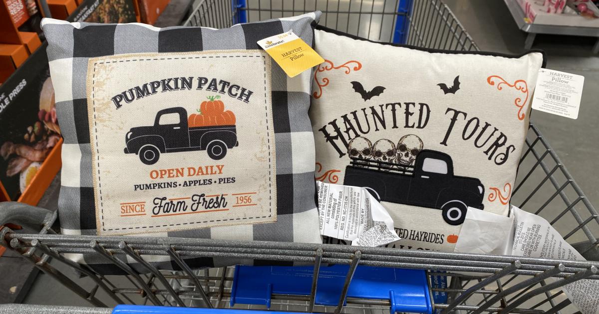 fall harvest pillows at walmart