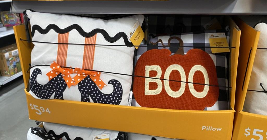 fall and halloween pillows at walmart