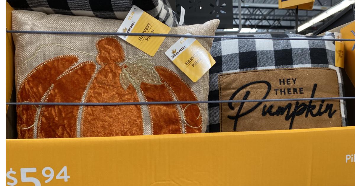 autumn pillows at walmart