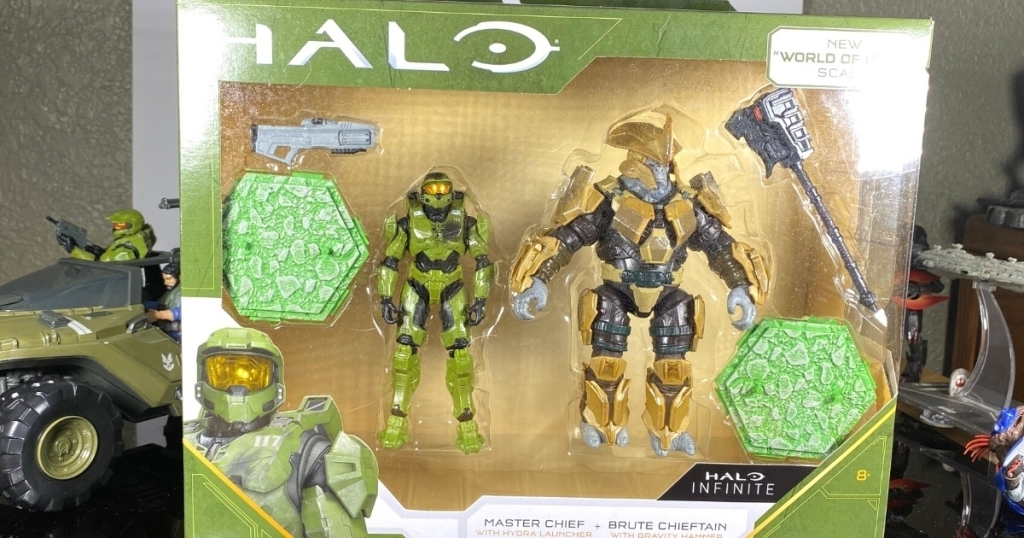 2 pack of halo world figures