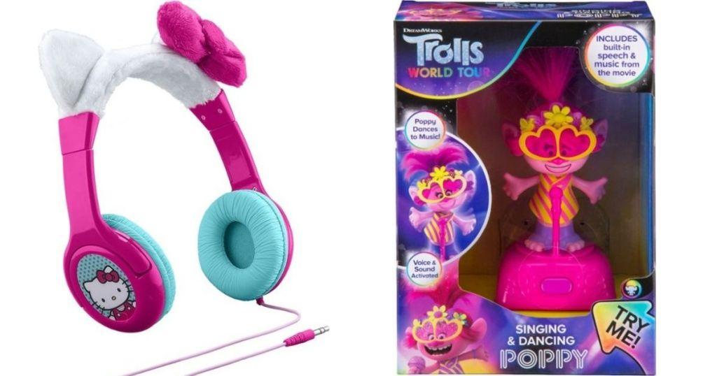 Headphones and Singing Poppy Toy