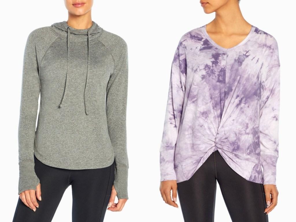 gray and purple hoodies from marika